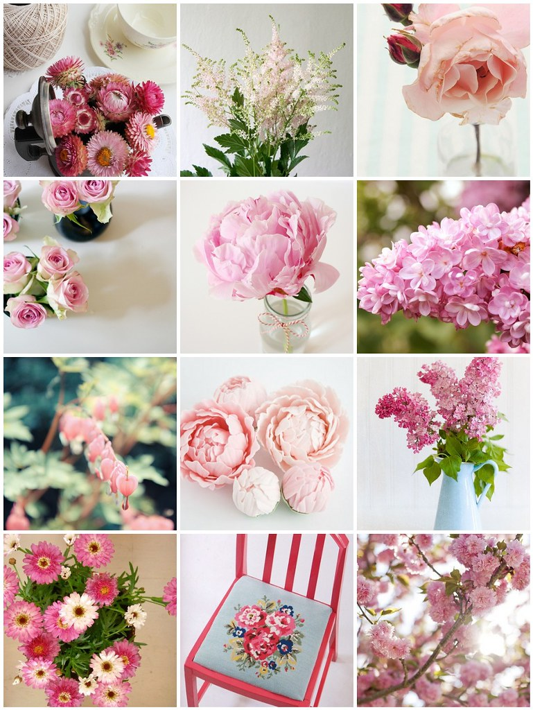 pink petals, Flickr mosaic curated by Emma Lamb