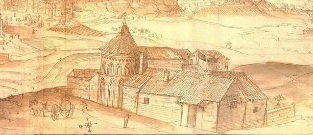 Ermita de San Eugenio en el Grabado de Toledo en 1563 por Anton Van Wyngaerde