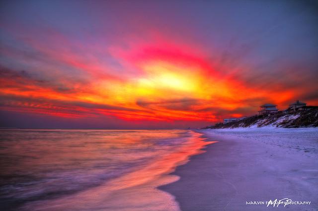 Panama City Beach Florida Pictures At Sunset