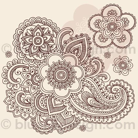 Huge Ornate Henna Paisley Doodle Tattoo Flower And Swirls