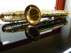 baritone saxophone, brass instrument, wind instrument,