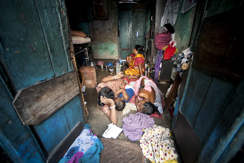 Family in Kolkata Slum