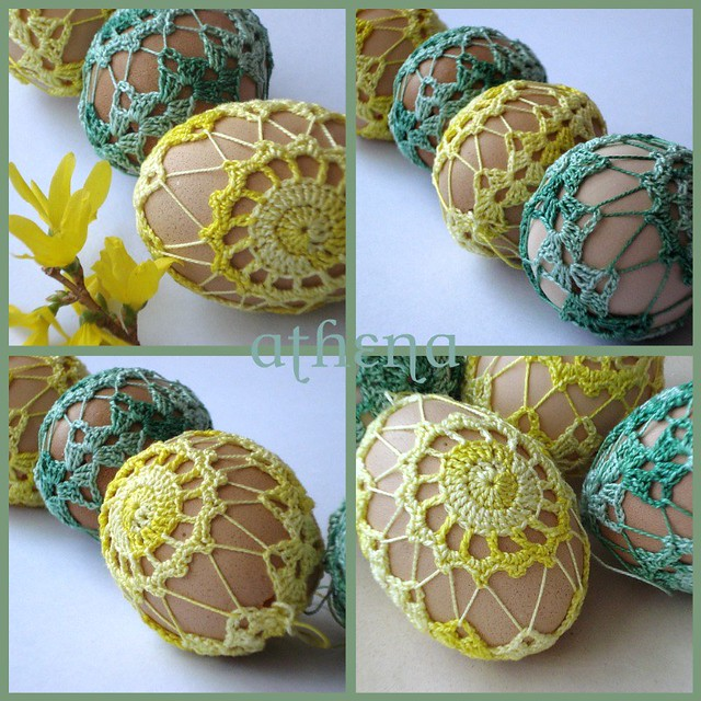 Easter crochet eggs - Yellow and green variation Flickr - Photo ...
