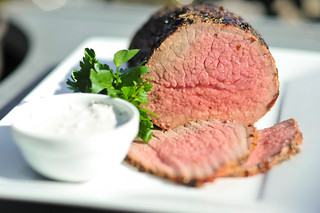 Herbed Roast Beef With Horseradish Cream Sauce