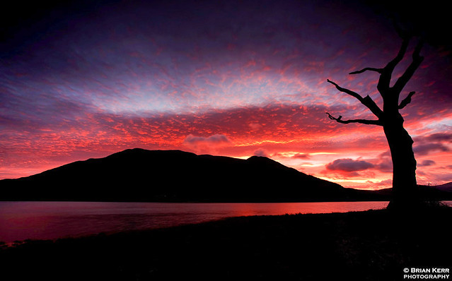 Skiddaw On Fire
