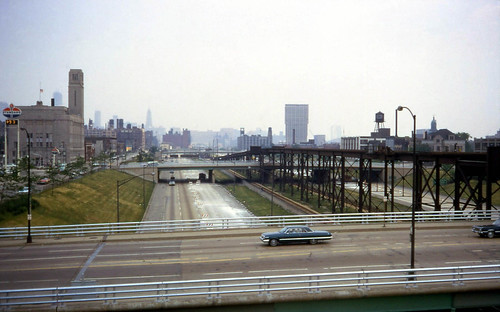 Chicago's Congress Expressway in 1968