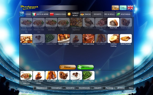 restaurant interactive menu