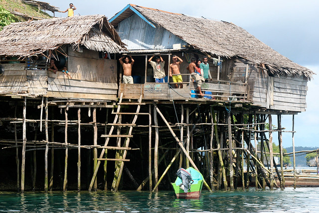 Living conditions in Raja Ampat - West Papua, Indonesia.
