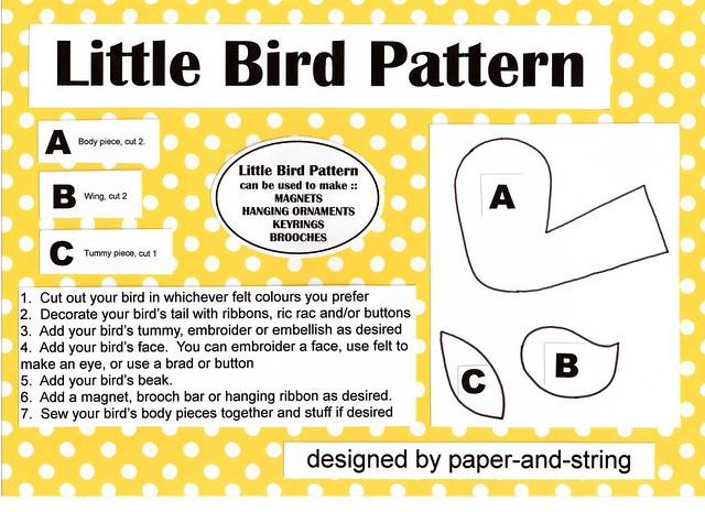 Bird sewing patterns - Squidoo : Welcome to Squidoo