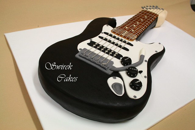 Electric guitar cake a photo on flickriver for Guitar templates for cakes