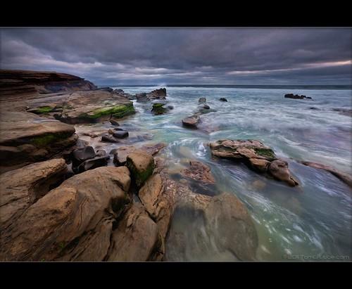 california seascape storm beach clouds coast rocks waves sandiego lajolla windandsea