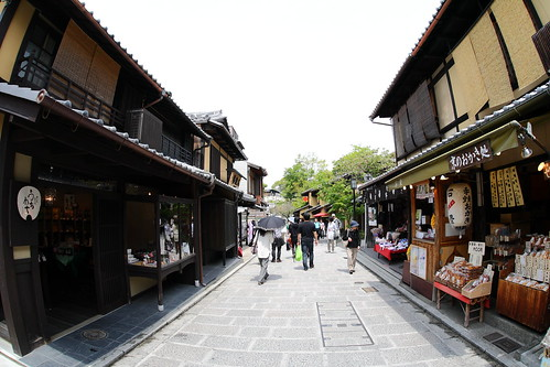 Walking on the Higashiyama street