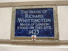 Photo of Richard Whittington blue plaque