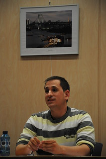 Durante una charla en Labastida