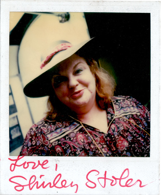 Autographed Polaroid of actress Shirley Stoler