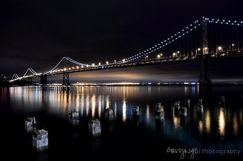 sanfrancisco california longexposure usa reflection night photography nikon explore baybridge 1224mm d7000