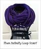 Plum Infinity Loop Scarf