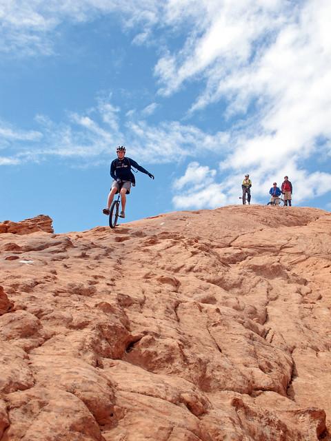 Karl descending on Slickrock
