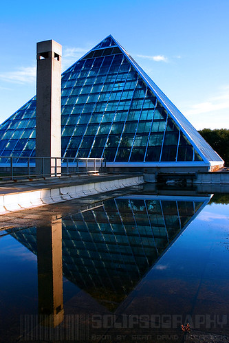 Muttart Pyramid Reflected