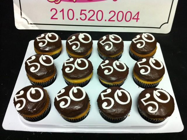 50th birthday cupcakes  Flickr - Photo Sharing!