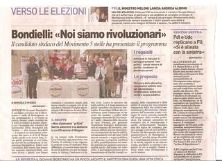 LA NAZIONE 19 aprile 2011