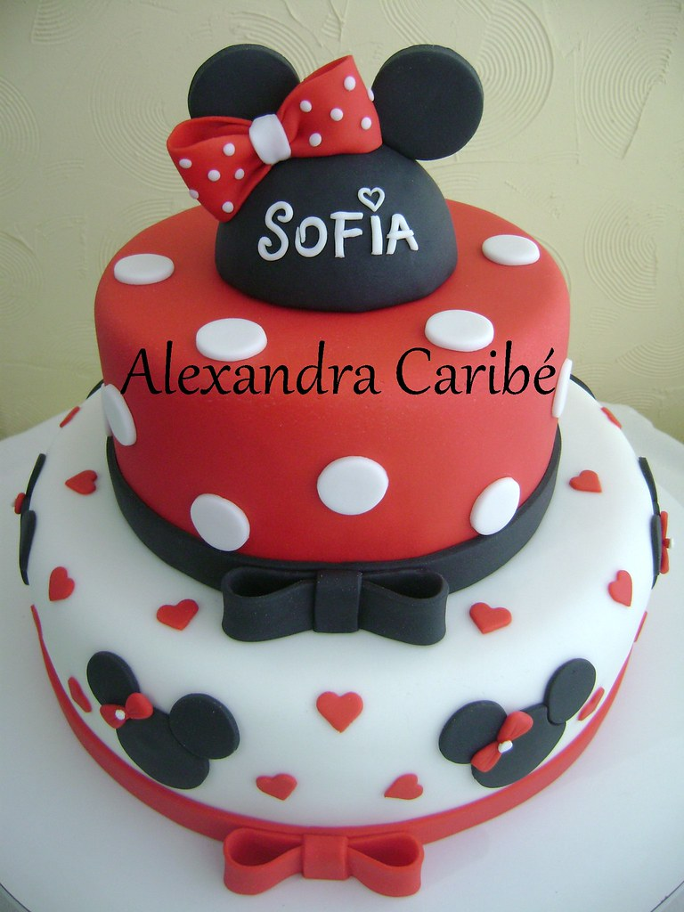 Bolo Minnie Vermelha   Cora    Es  Minnie Mouse Red Cake
