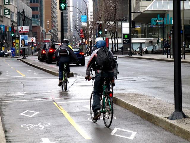 Montreal bike lanes