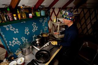 Dinner in the Yurt