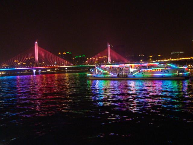 1102广州珠江夜游 广州电视塔
