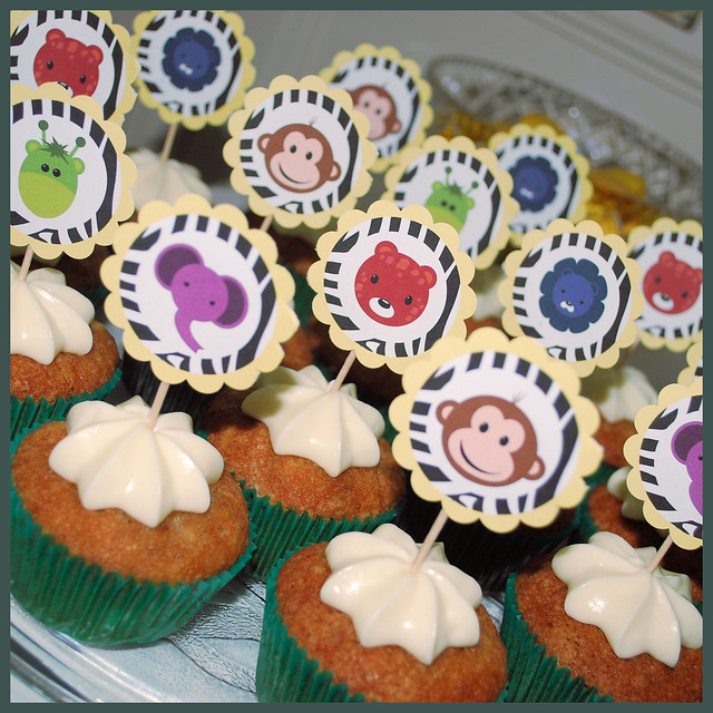 Jungle Safari Baby Shower - Hummingbird Cupcakes