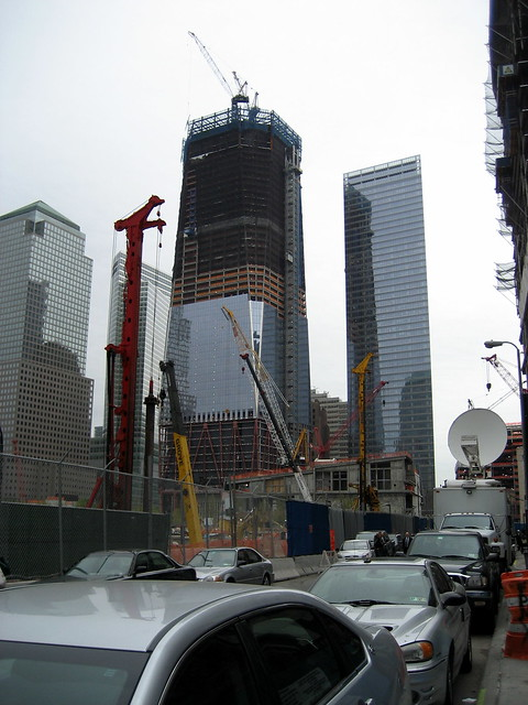 Media coverage near Ground Zero