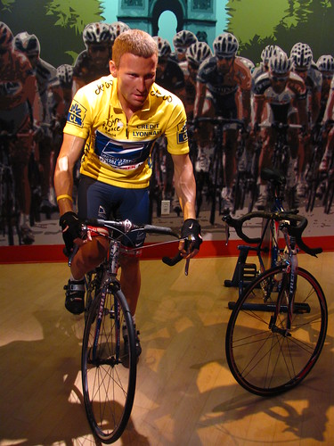 Lance Armstrong figure at Madame Tussauds Hollywood