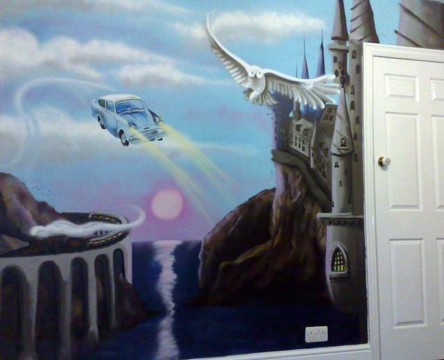 harry potter hogwarts mural flickr photo sharing harry potter hogwarts mural