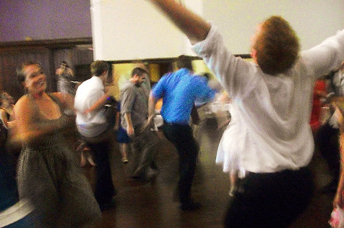 Crazy dancing at the reception