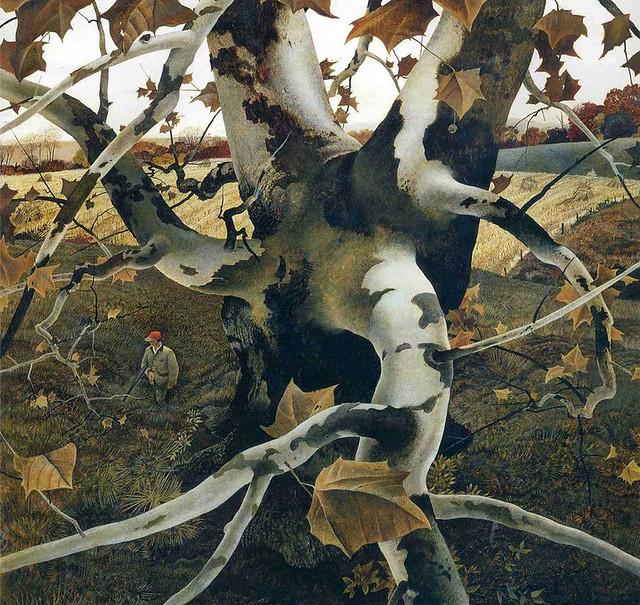 Andrew Wyeth 'The Hunter'  1943 Tempera on masonite