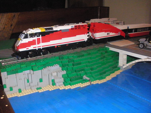 Lego amtrak set - Lego brick caravan a record built piece by piece ...