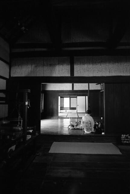 Woman in backroom