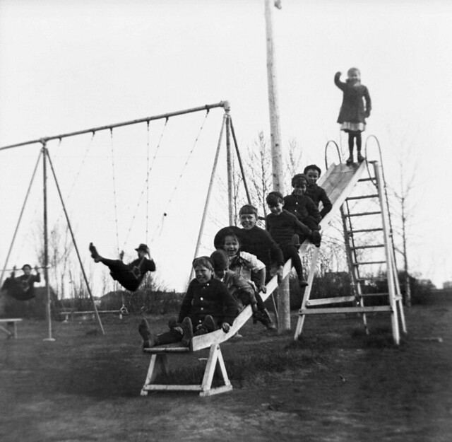 Children on a Slide