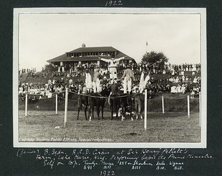 Royal Canadian Dragoons Circus at Sir Henry Pellatt's Farm, Lake Marie, King. Performing before the Prime Minister