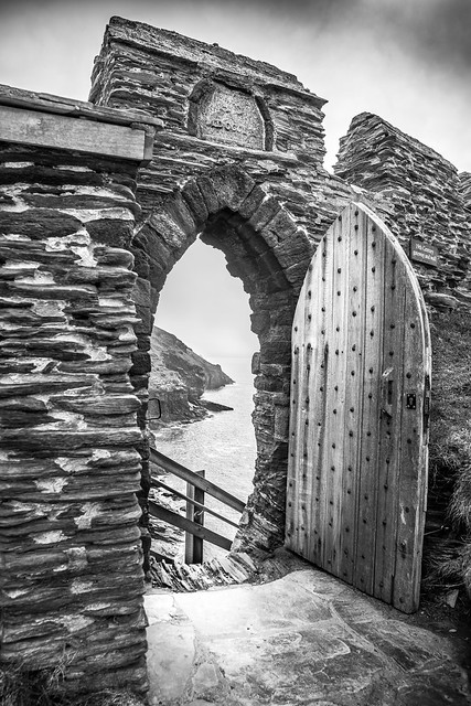 The gate of the Tintagel Castle, Cornwall, United Kingdom