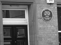 Photo of William Conor blue plaque