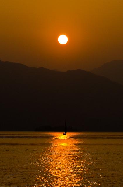 Sunset Lago Maggiore
