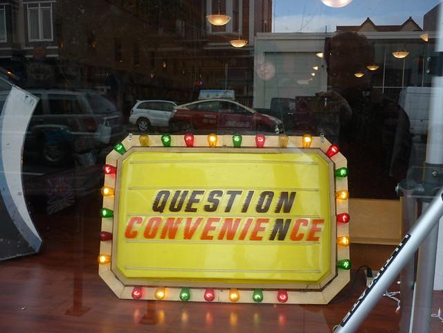 question convenience