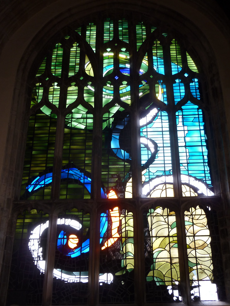Contemporary glass. North porch, St Margaret, King's Lynn