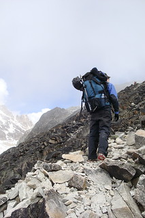On the way to high camp