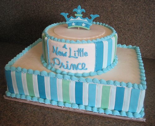 "A New Little Prince"" Baby Shower Cake 