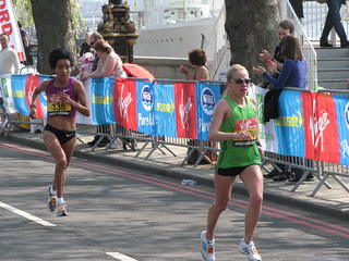 Abitova and Perez, London Marathon 2011