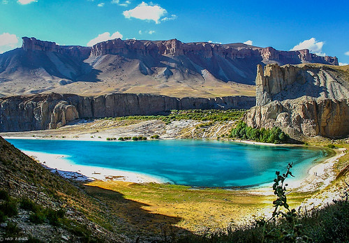 park blue lake afghanistan water highlands crystal dam central band first national amir limestone bamiyan hazarajat ameer bamyan bamian touraroundtheworld