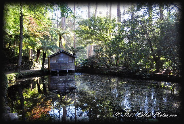 The boathouse at the Alfred Nicholas Gardens
