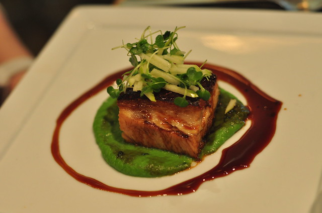 Roast Pork Belly On Pea Puree Recipes — Dishmaps